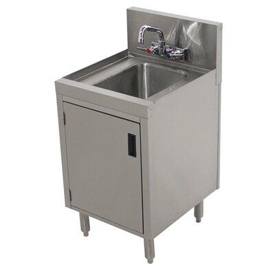 Prestige Series Free Standing Handwash Utility Sink with Faucet Size: 36 H x 18 L x 25 W