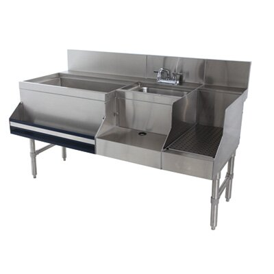 Prestige Series Uniserv Speed Bar 60 x 30 Free Standing Service Utility Sink with Faucet