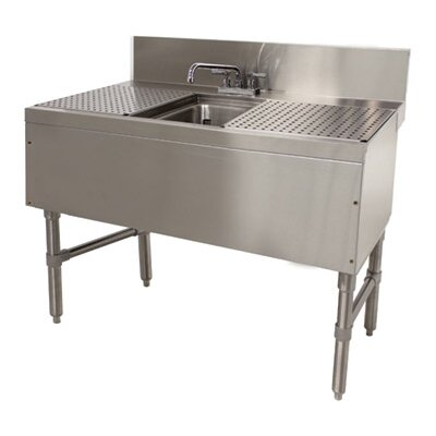 Prestige Series 36 x 25 Free Standing Service Utility Sink with Faucet