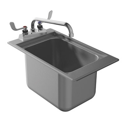 13 x 19 Drop-In Service Utility Sink with Faucet