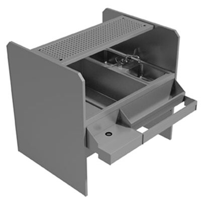 Standard Pass Thru Double 44 x 46.5 Free Standing Service Utility Sink