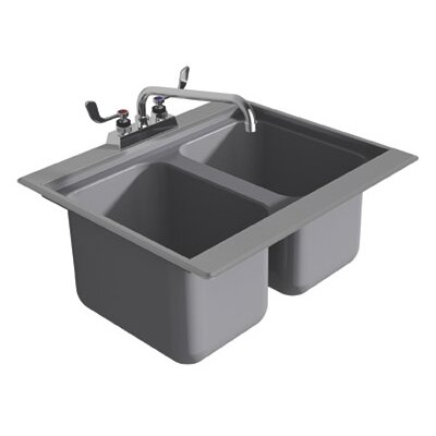 25.5 x 19 Drop-In Service Utility Sink with Faucet