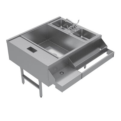 Standard Pass Thru Double 46.38 x 42 Free Standing Service Utility Sink