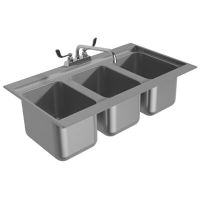 38 x 19 Drop-In Service Utility Sink with Faucet