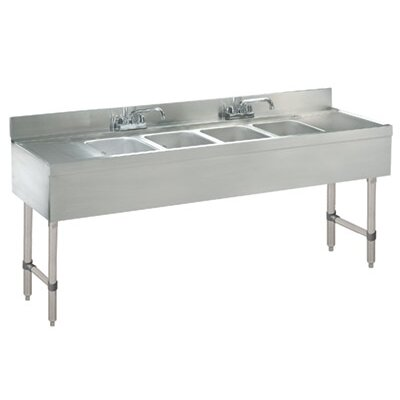 Free Standing Service Utility Sink with Faucet Size: 33 H x 96 L x 21 W
