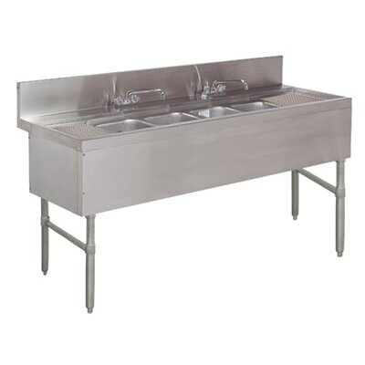Prestige Series 48 x 25 Free Standing Service Utility Sink with Faucet