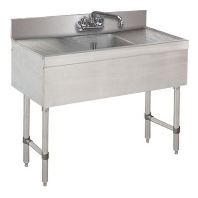 36 x 18 Free Standing Service Utility Sink with Faucet