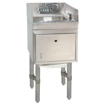 Free Standing Handwash Utility Sink Size: 32.88 H x 12 L x 21 W