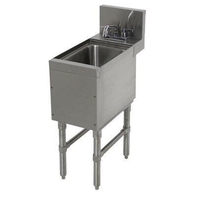 Prestige Series Free Standing Handwash Utility Sink with Faucet Size: 36 H x 12 L x 25 W