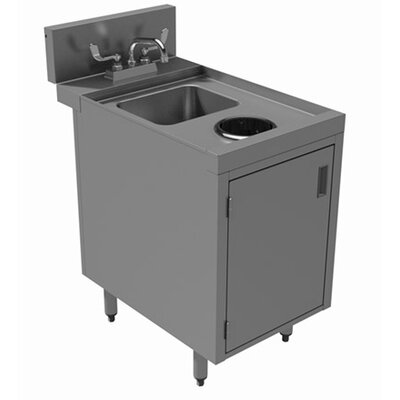 Prestige Series Built-in 18 x 30 Free Standing Laundry Utility Sink with Faucet