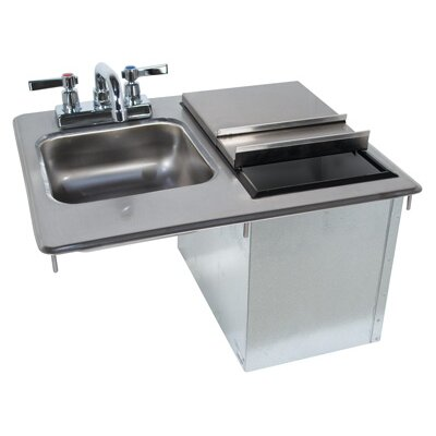 21 x 18 Drop-In Service Utility Sink with Faucet