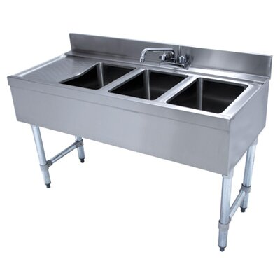 48 x 21 Free Standing Service Utility Sink with Faucet