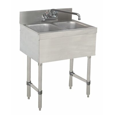 24 x 18 Free Standing Service Utility Sink with Faucet