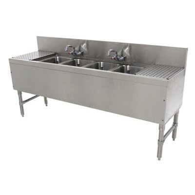 Prestige Series Free Standing Service Utility Sink with Faucet Size: 36 H x 96 L x 20 W