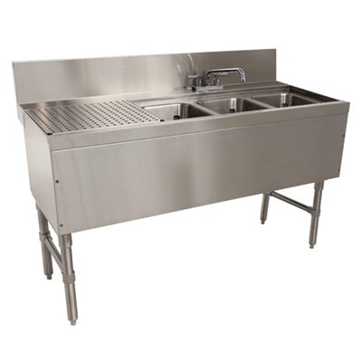 Prestige Series Free Standing Service Utility Sink with Faucet Size: 36 H x 48 L x 25 W