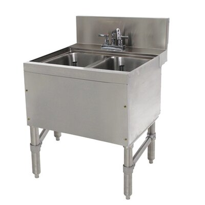 Prestige Series 24 x 25 Free Standing Service Utility Sink with Faucet