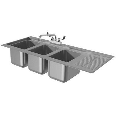 43.31 x 19 Drop-In Service Utility Sink with Faucet