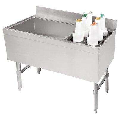 Free Standing Service Utility Sink Size: 33 H x 36 L x 21 W