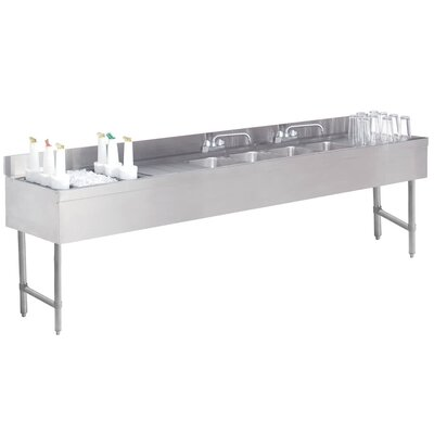 96 x 21 Free Standing Service Utility Sink with Faucet
