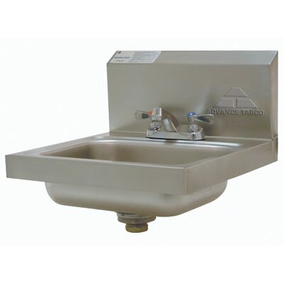 Wall Mounted 17.25 x 17.25 Single Hand Sink with Faucet