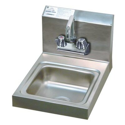 Economy 12 x 16 Single Wall Mounted Hand Sink with Faucet