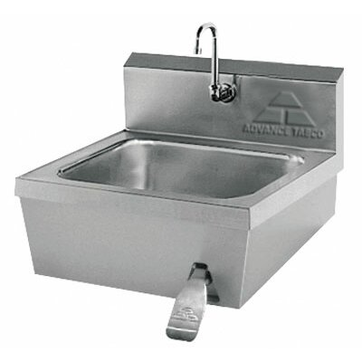 Hands Free 17.25 x 21.25 Single Hand Sink with Faucet