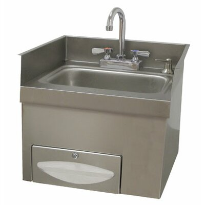 18.25 x 17.75 Single Countertop Hand Sink with Faucet