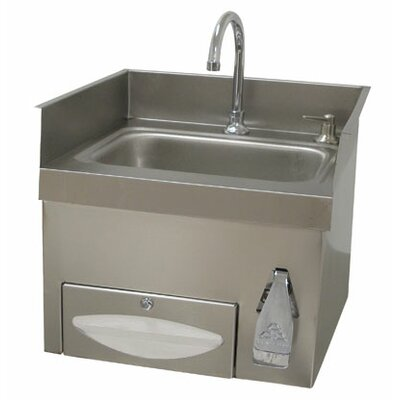 Single Countertop Hand Sink with Faucet