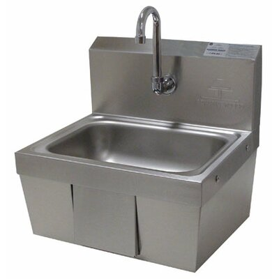 17.25 x 15.25 Single Hands Free Hand Sink