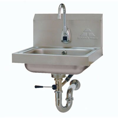 17.25 x 15.25 Single Hands Free Hand Sink with Faucet