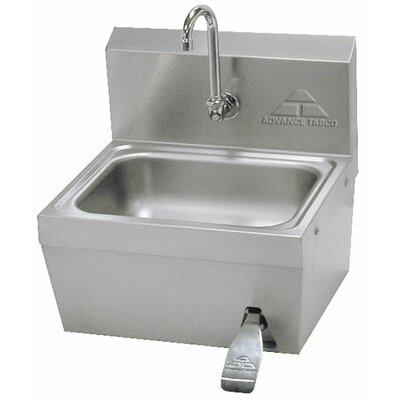 "Hands Free 17"" x 15"" Hand Sink with Faucet"