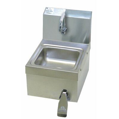 12.25 x 16 Single Space Saver Free Hand Sink with Faucet