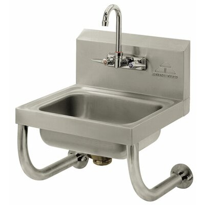 17.25 x 15.25 Single Wall Mounted Hand Sink with Faucet