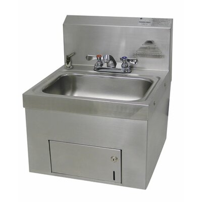 14 x 17.25 Single Wall Mounted Hand Sink with Faucet