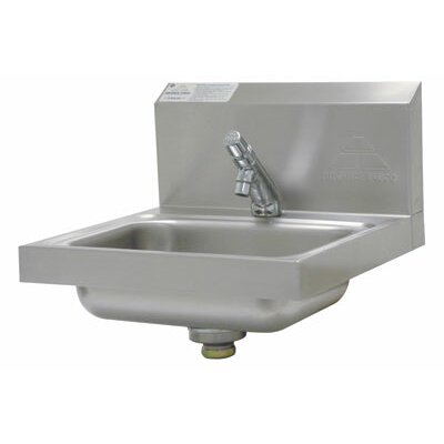 17.25 x 17.25 Single Wall Mounted HACCP Compliant Hand Sink with Faucet