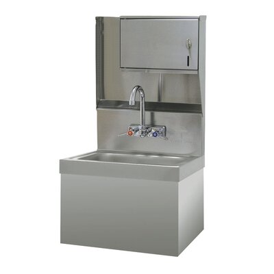 15.25 x 17.25 Hand Sink Size: 29 H x 15.25 W x 17.25 D