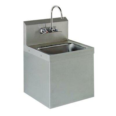 15.25 x 17.25 Hand Sink Size: 34 H x 15.25 W x 17.25 D