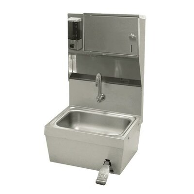 Hands Free 17.25 x 15.25 Single Hand Sink with Faucet