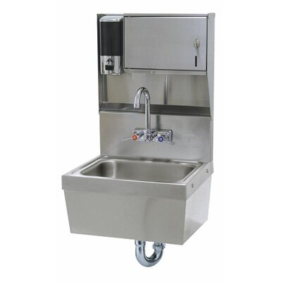 Wall Mounted 17.25 x 15.25 Single Hand Sink