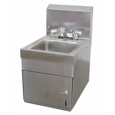 Space Saver 12 x 16 Wall Mounted Hand Sink with Faucet