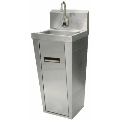 Hands Free 15.25 x 17.25 Single Hand Sink with Faucet