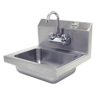 17 x 17.25 Single Hand Wash Sink with Faucet