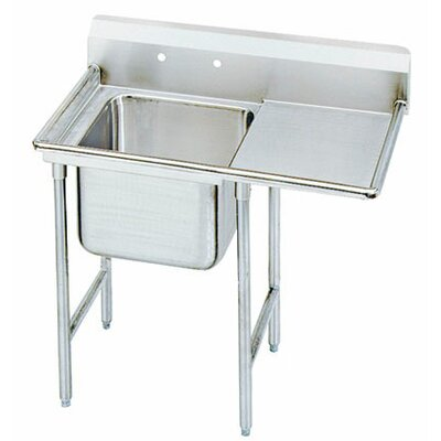 900 Series Single Seamless Bowl Scullery Sink Length: 42