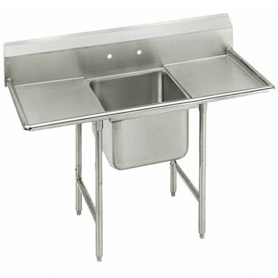 900 Series Seamless Bowl Single 1 Compartment Scullery Sink Length: 56