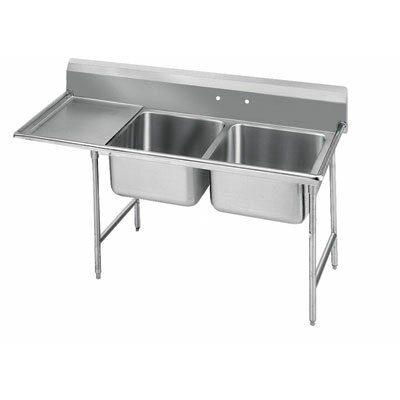 T-9 Series 58 x 27 Double 2 Compartment Scullery Sink