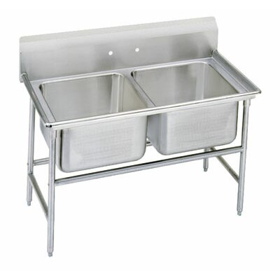900 Series Seamless Bowl 60 x 27 Double 2 Compartment Scullery Sink