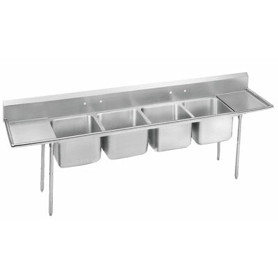 900 Series Seamless 126 x 27 Bowl  4 Compartment Scullery Sink