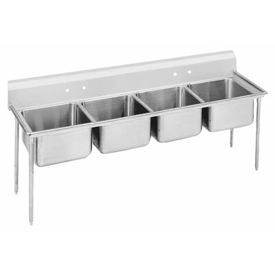 900 Series 89 x 31 Seamless Bowl 4 Compartment Scullery Sink