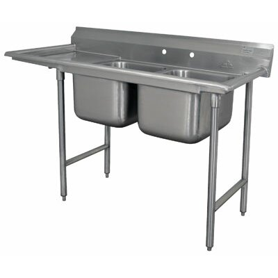 930 Series Double Seamless Bowl Scullery Sink Length: 66