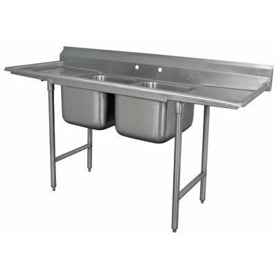 930 Series Double Seamless Bowl Scullery Sink Width: 81